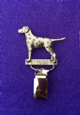 Dog Show Breed Ring Number Clip - Dalmatian - FULL BODY Silver or Gold Style